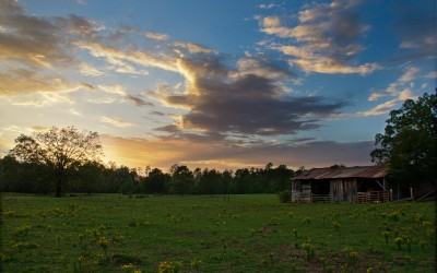 Mullins Farm at Sunset