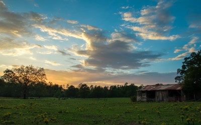 Barn at Sunset